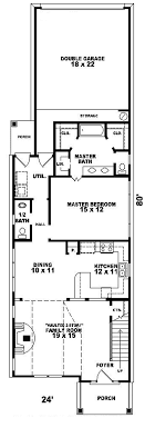house plan for narrow lot peachwood trail narrow lot home plan 087d 0148 house plans and more