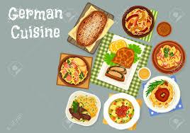cuisine allemand nourriture de cuisine allemande icône de plats de chou et de
