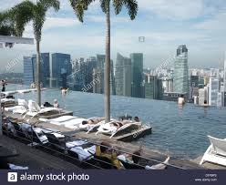 infinity pool at luxury tropical resort singapore marina bay sands