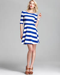 french connection dress fun stripe jersey in blue lyst