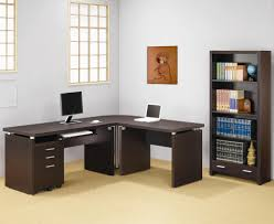 corner desk with drawers brown polished wooden corner computer desk with drawers and