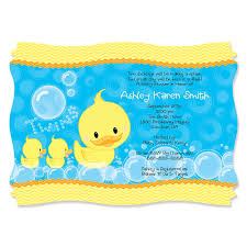 baby shower duck theme ducky ducks personalized baby shower invitations