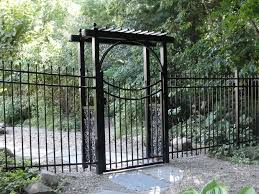 Metal Arbor With Gate Ornamental Henry Fence