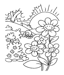 spring flower garden coloring pages kids kids coloring