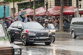 video new french president has bespoke ds 7 crossback 4 images