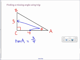 finding a missing angle with trig youtube