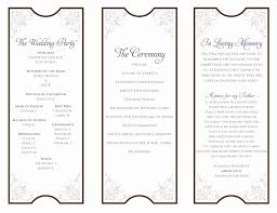free tri fold wedding program templates tri fold wedding ceremony program template sao mai center