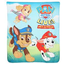 paw patrol live fleece blanket vstar merchandising llc