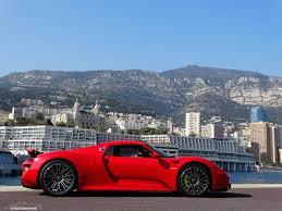hybrid porsche 918 stunning red porsche 918 spyder photoshoot in monaco gtspirit
