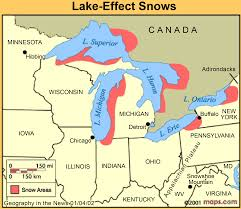 Illinois On A Map by Geography In The News Lake Effect Snow U2013 National Geographic