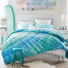 dunes tie dye cotton quilt sham pbteen