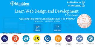 learn web design htmlden school of web design development bangalore