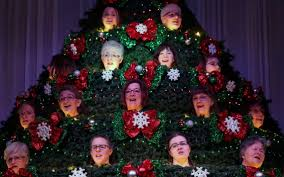 living christmas tree brings the sounds of the holidays to life