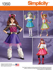 simplicity halloween costume patterns simplicity 1350 child u0027s and girls u0027 costumes