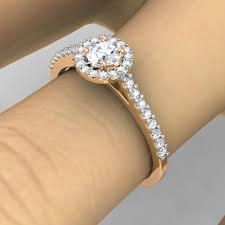 2 carat halo engagement ring 0 40 carat ctw 14k gold cut engagement