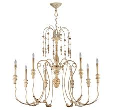 White Murano Chandelier by Maison French Country Antique White 8 Light Chandelier Kathy Kuo