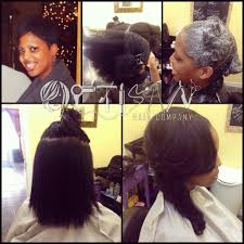 partial sew ins with leave out artisan hair company llc