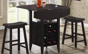 Black Drop Leaf Kitchen Table by Compact Dining Space Arrangement With Drop Leaf Dining Table For