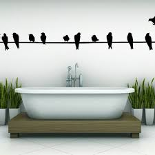 wire with birds sitting calm decal vinyl sticker wall home