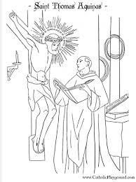 st thomas aquinas coloring 28th u2013 catholic playground