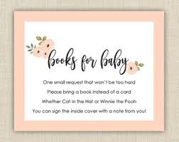 baby shower instead of a card bring a book baby shower book etsy