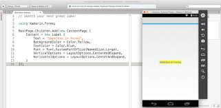 real time code iteration with sketches xamarin blog