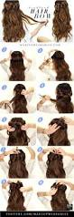 Hairstyle Diy by 18 Easy Half Up Half Down Hairstyle Tutorials For Prom Gurl Com