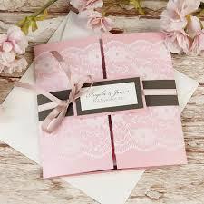 gatefold wedding invitations gatefold wedding invitations lace blush pink rustic gatefold