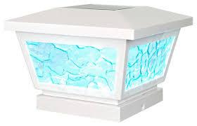 classy caps fairmont solar post cap modern deck lighting by