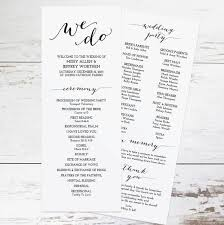 wedding bulletins exles free wedding program templates wedding program ideas