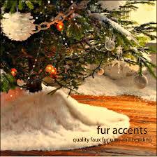 faux fur tree skirt fur accents christmas tree skirt plush shaggy