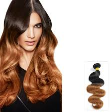 ombre extensions two tone ombre wavy indian remy hair extensions 1b 30