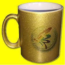 micro rainbow international metallic gold mug