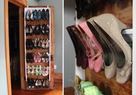 Closet Door Shoe Storage Diy Crown Molding Closet Shoe Organizer For Heels