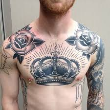 grey ink archangel on right chest 15 chest design ideas for 45