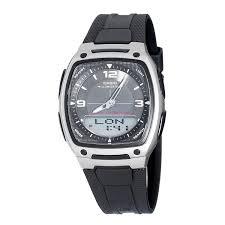 amazon com casio men u0027s aw81 1a1v ana digi 10 year battery watch