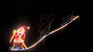 rope light silhouettes santa skiing downhill 1 8m