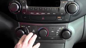 2012 toyota highlander manual temperature controls how to
