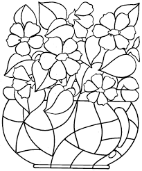 flower printable coloring pages pot page free for adults about