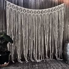 wedding backdrop measurements handmade macrame wall hanging this item measures one and a half