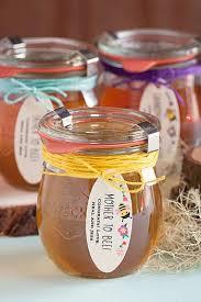 honey jar favors honey baby shower favors