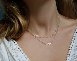 baby name necklace gold plate necklace letter necklace name necklace memory