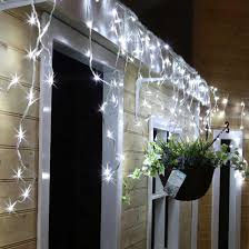 snowing icicle outdoor lights 480 white led snowing icicle lights