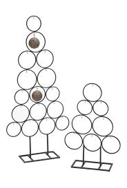 Christmas Tree Ornament Display Metal Circle Tree Ornament Display Set Of 2 Tripar
