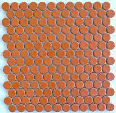 moddotz sherbet orange porcelain tile penny rounds on designer pages