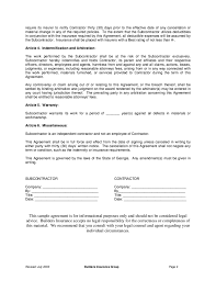 subcontract agreement template 26 contract agreement form