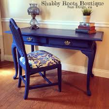 blue writing desk sold cobalt blue desk with chair queen anne style vintage