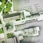 nice architectural site plan with architectural sketch site plan