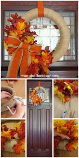 Home Made Thanksgiving Decorations by Best 25 Easy Fall Wreaths Ideas Only On Pinterest Fall Wreaths