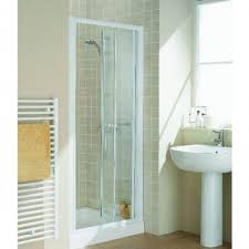 Lakes Shower Door Lakes Classic White Bifold Shower Door With Optional Side Panels
